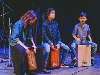 Cajon lessons for kids by Swee Lee Music Company