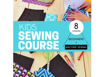 Kids Sewing Course: Beginners 1 - Machine Sewing (8 classes) by Maker's Habitat