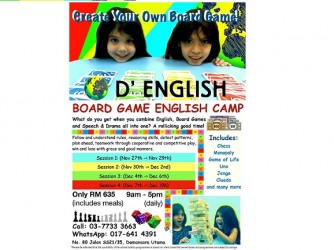 #SHP: Board Game English Camp by D'English