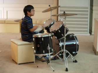 Drum lessons for kids by C Clef Music Sdn Bhd