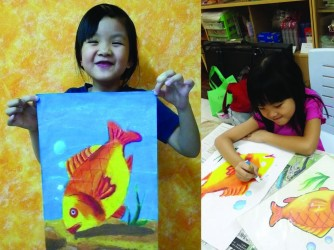 Oil Pastel Art for kids by KP Wong Art & Design Studio